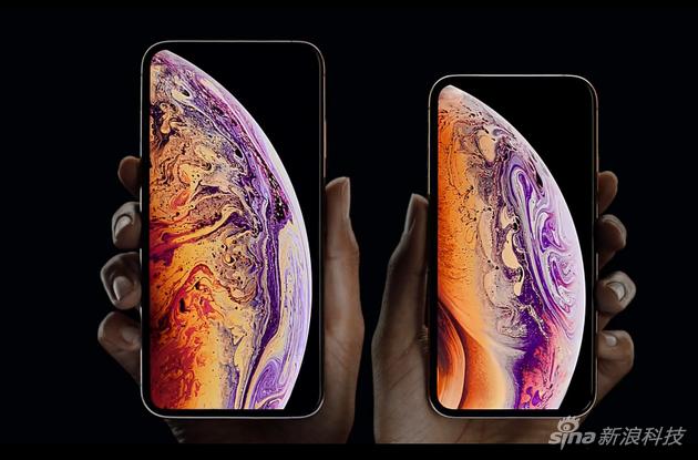 左为iPhone XS Max 右为iPhone XS