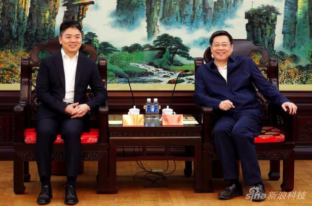 湖南省委书记、省人大常委会主任杜家毫会见京东刘强东一行。