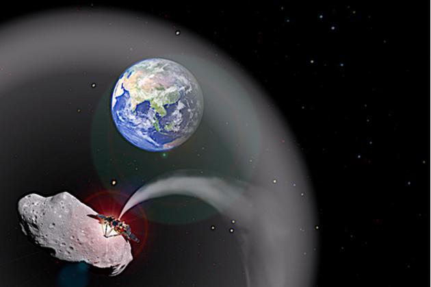 有科学家设想,利用撞击小行星产生的大量烟尘,制造一种遮阳伞机制,给地球降温