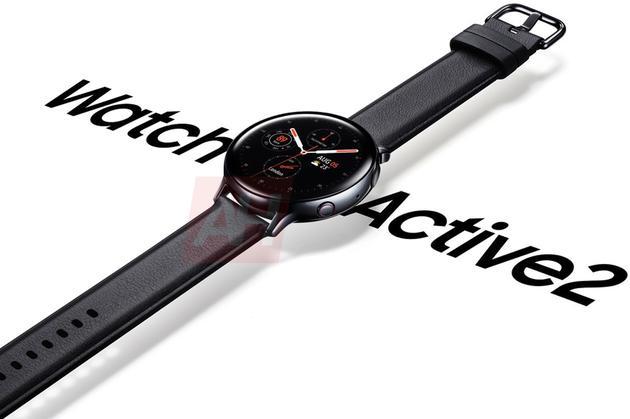 网络泄露的三星Galaxy Watch Active 2渲染图
