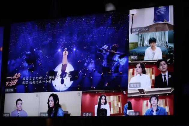 《歌手·当打之年》云录制现场 图源:@湖南卫视歌手 官方微博