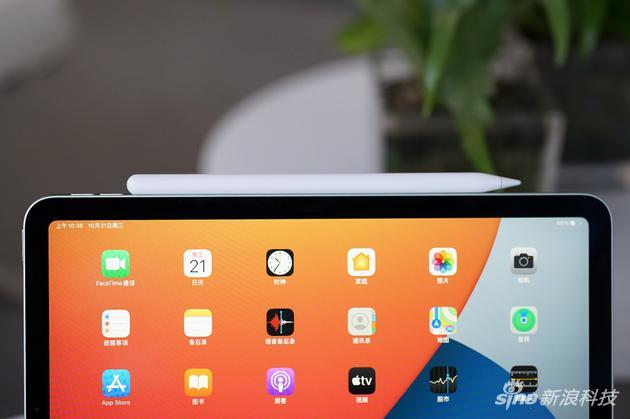 Apple Pencil完美吸附在iPad Air边框