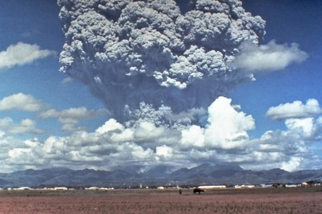 1991年菲律宾皮纳图博火山喷发造成了全球气温的轻微下降