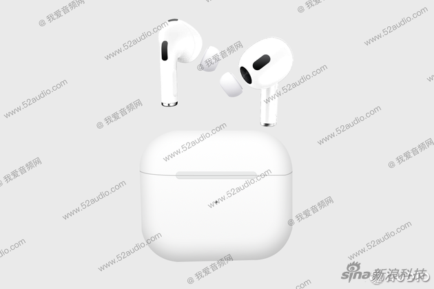 苹果AirPods 3代外形曝光 果然是简化版的AirPods Pro
