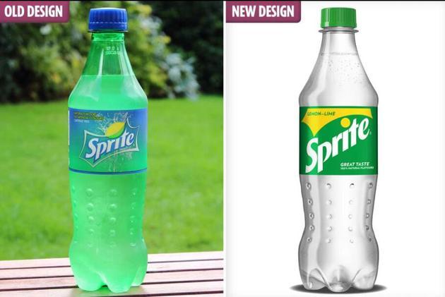为了环保 雪碧将把标志性绿瓶变全透明