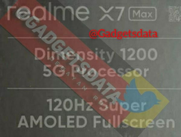realme X7 Max曝光,预计为海外版GT Neo