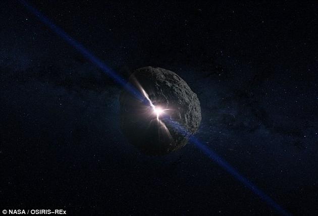 2135年,贝努小行星有很小的概率可能撞击地球,到时候我们有办法躲过一劫吗?派遣飞船对其进行撞击时一种选项。这是飞船撞击小行星的场景示意图