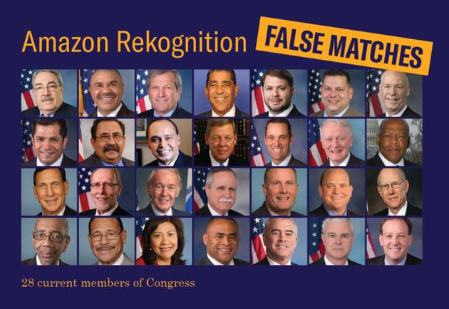 亚马逊Rekognition面部识别系统出错 将会议员识别成罪犯