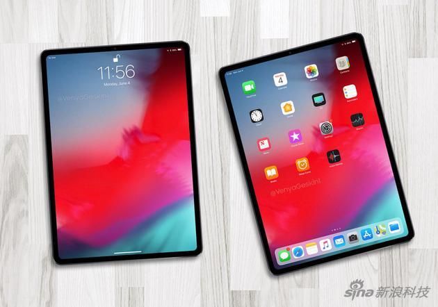 設計師根據傳言做的新iPad Pro渲染圖
