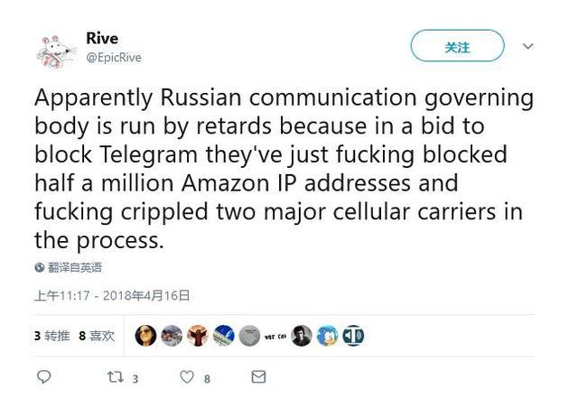 Telegram迁移 俄封杀180万个亚马逊和谷歌云IP地址制胜一击 印度