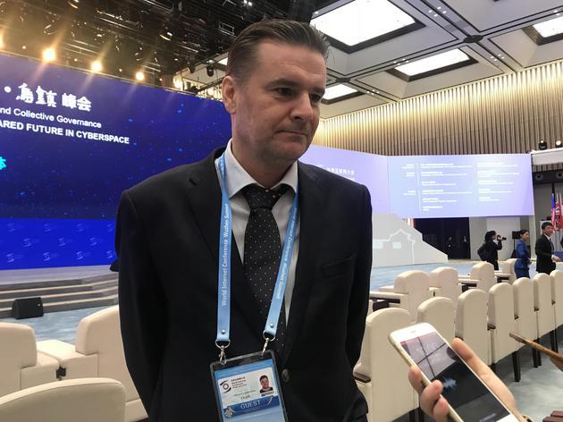 芬蘭Dottli 公司的首席執行官韋薩·肯帕伊寧。圖片/新京報記者 白金蕾