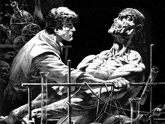 玛丽·雪莱的名著《弗兰肯斯坦》(Frankenstein)的封面