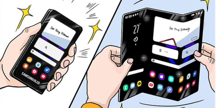 三星暗示未来折叠屏手机形态:三折屏和卷轴屏