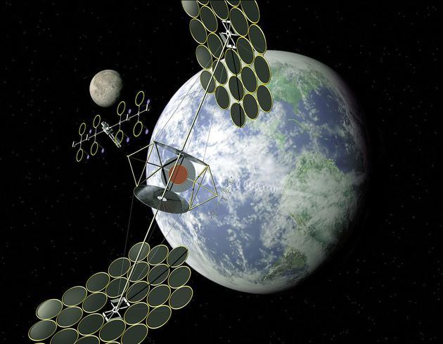 太阳能卫星概念图