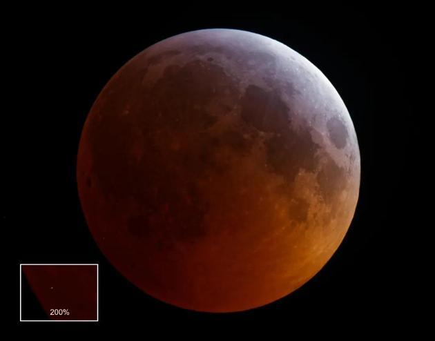 发生在2019年1月21日月全食期间的月球撞击闪光事件。/ Monthly Notices of the Royal Astronomical Society