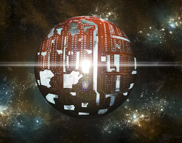 图为艺术家绘制的戴森球概念图
