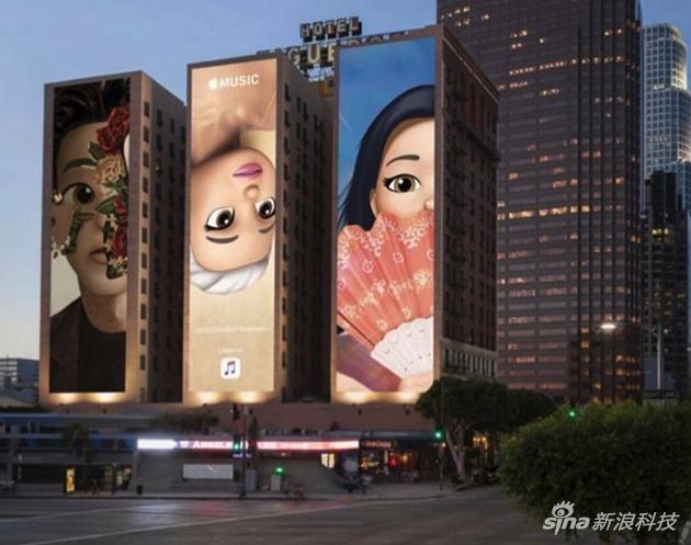 蘋果在洛杉磯設立的廣告牌