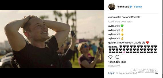 马斯克经常在Instagram秀帅照。
