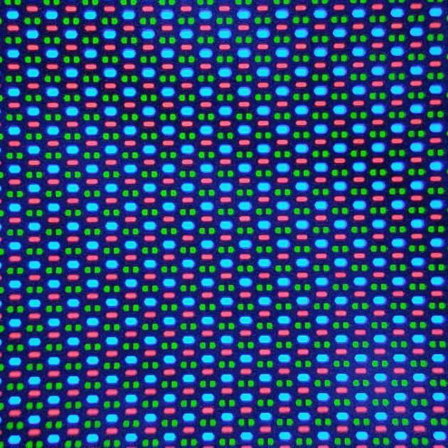 顯微鏡拍攝某手機屏幕