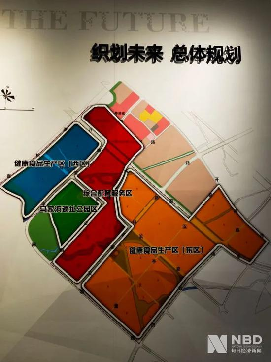 马家浜健康食品小镇规划 图片来源:每经记者 张韵 摄
