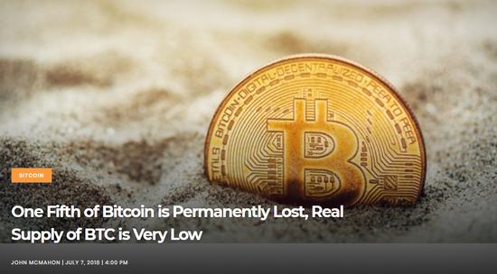 20%的比特币已丢失 从而催生了相关恢复服务