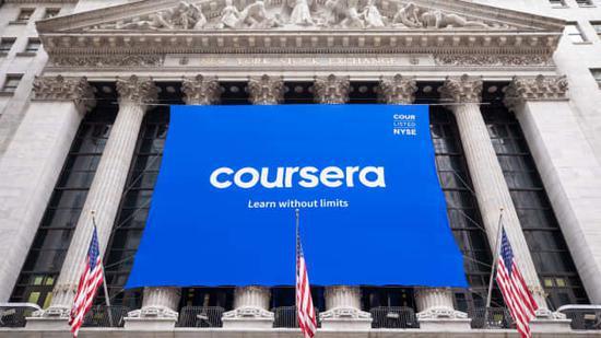 线上教育巨头Coursera上市首日大涨36% 市值达59亿美元