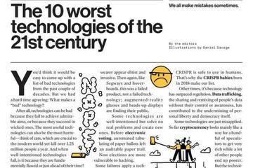 MIT科技评论发布十大最糟科技