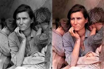 用AI修复母亲的旧照片
