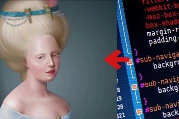 代码变油画,精细到毛发,让美术设计也惊叹