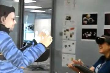"""""""克隆""""一个自己去上班!微软VR远程会议机器人来了"""