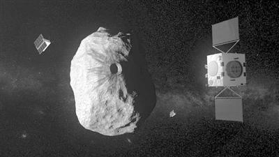 """""""赫拉""""与史上最小小行星。 图片来源:欧洲空间局网站"""