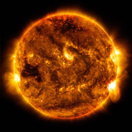 太阳动力学观测台拍摄的太阳照片