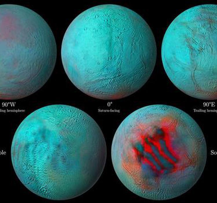 土星的海洋卫星土卫二在意想不到的地方发现了新冰