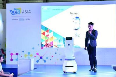 往届CES Asia亚洲消费电子展现场。