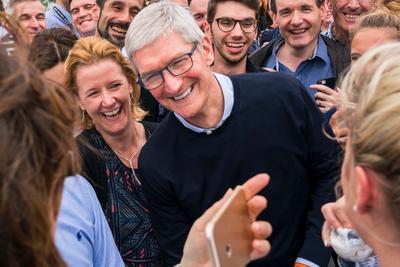 库克拜访爱尔兰:苹果来到这里不是为了避税