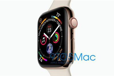 苹果Apple Watch Series 4真机亮相:屏占比提升