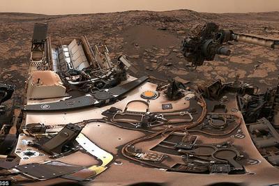 好奇号在火星沙尘暴之后的自拍:360度全景看火星