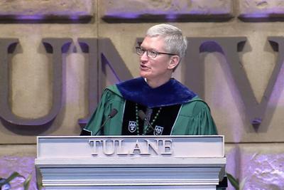 库克杜兰大学演讲:拿出勇气尝试 以重塑世界为使命