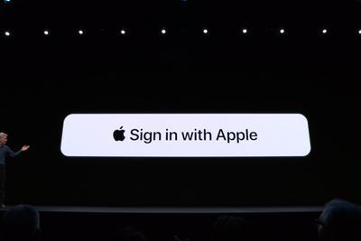 """苹果iOS 13:新增""""Apple登录""""账号选项 取代谷歌"""