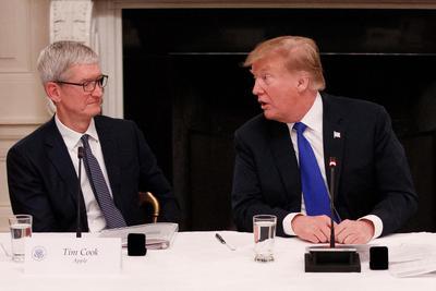 手机上怎么赚钱_库克会面特朗普:三星没有关税 苹果可能会失去优势