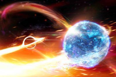 9亿年前的时空涟漪:黑洞吞食中子星形成引力波