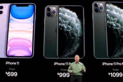 iPhone 11 Pro最高11799元