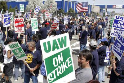 UAW is tightening its belt as GM strikes continue