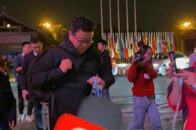 网易董事局主席兼CEO丁磊抵达乌镇西栅景区