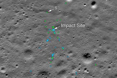 NASA发现印度月球着陆器坠毁地点 碎片清晰可见(图)