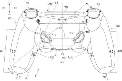 索尼全新PlayStation手柄专利曝光:背部新增2颗按键
