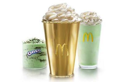 为了庆祝薄荷奶昔50周年 麦当劳推出天价黄金杯