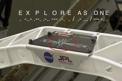 """网友发现NASA火星探测器神秘信息:官方承认""""夹私货"""""""
