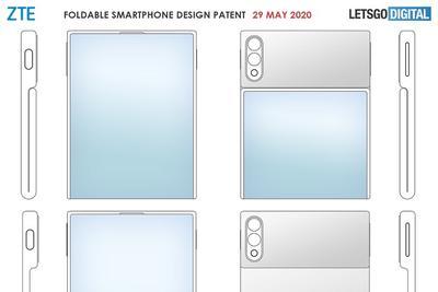 中兴折叠屏手机专利暴光:柔性屏翻盖式设计