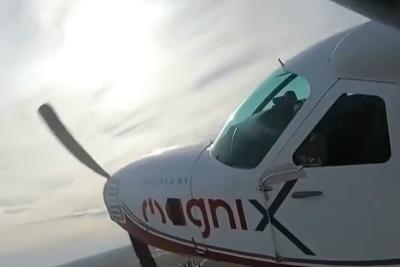 空中特斯拉?美全电动飞机首飞成功